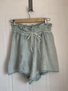 Free People Summertime Blues Knit Short in Hint Of Sky - RRP £71 Size Small