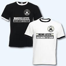 T-Shirt Trikot Retro-Shirt, JGA Auswärtstour, Junggesellenabschied + Wunschname