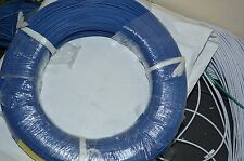 22 AWG Gauge Solid Hook Up Wire Blue 50ft 300 Volts