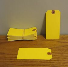 125 AVERY DENNISON YELLOW COLORED SHIPPING TAGS INVENTORY CONTROL SCRAPBOOK  TAG