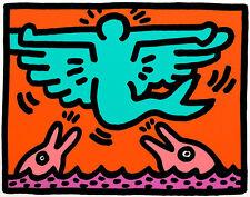 Pop Shop V portfolio of 2 by Keith Haring A2+ High Quality Canvas Art Print