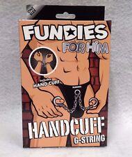 Fundies for Him Handcuff G-String w/Hand Cuffs Bad Cop Stripper Costume Gag Gift