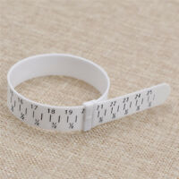 White Bracelet Sizer Gauge Adjustable Bangle Hand Wrist Measuring Circle Plastic