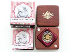 2011 Australia Merino Rams Head $10 Ten Dollar Gold Proof 1/10oz Coin Box Coa