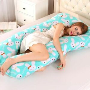 Sleeping Support Pillow For Pregnant Women Body PW12 100% Cotton Rabbit Print U