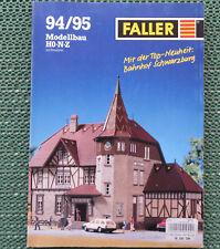 Faller  -- Modellbau Katalog  1994/95