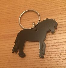 Horse Keyring/bag Charm In Black