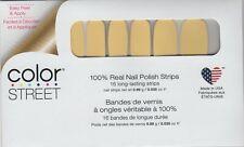 COLOR STREET Nail Strips Belgian Buttercup 100% Nail Polish - USA Made!