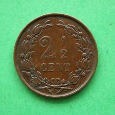 1894 Netherlands 2 1/2 Cent Two and Half Cent SNo56305