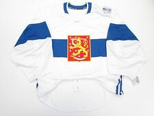 FINLAND WHITE 2016 WORLD CUP OF HOCKEY TEAM ISSUED ADIDAS JERSEY GOALIE CUT 58