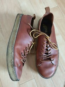 YOGI RUFUS BROWN LEATHER CREPE SOLE TRAINER SHOES SIZE 12 46