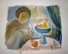 Mandin Richard huile sur papier signée Marseille Musée Cantini Expressionnisme