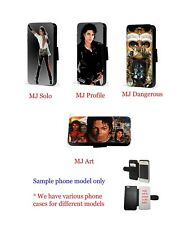 Michael Jackson Inspired collage leather wallet phone case for iPhone Samsung
