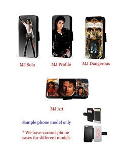 Michael Jackson collage leather wallet phone case for iPhone Samsung