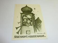 Alte Originale Hummel Karte Schwarz weiß gezackter Rand NR S 5 Müller unbesch.