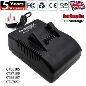Snap On CTC720 Charger For 18V Battery LI CTB8185 CTB8187 CTB7185 CT7850 UK Plug