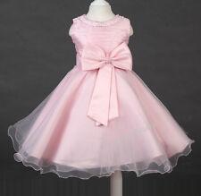 Flower Girl Dress Sparkly Jewl Girls Party Christening Bridesmaid Corsage Dress