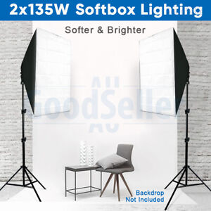 Photography Softbox Studio Continuous Lighting Video Soft Box Light Stand Kit