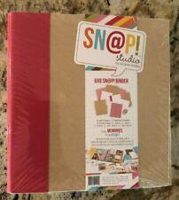 "Scrapbooking Binder Snap Studio by Simple Stories Red & Kraft 6X8"" New SHIP FREE"