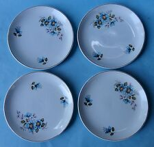 ROYAL TUDOR Staffordshire China Vintage BLUE ENGLISH VIOLATES Dinnerware 4 PLATE