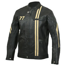 Germot Motorrad Rinds Leder Jacke MILWAUKEE Cafe Racer Chopper Biker