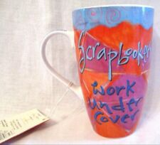 JOYCE SHELTON SCRAPBOOKERS Scrapper WORK UNDER COVER IT'S JUST A JOB MUG New