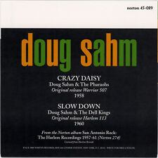 "DOUG SAHM & THE DELL KINGS  ""SLOW DOWN""   CLASSIC 50's R&R  GOLD VINYL   LISTEN"