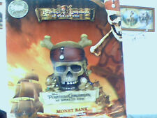 PIRATES OF THE CARIBBEAN AT WORLD'S END MONEY BANK SKULL DISNEY STORE EXCLUSIVE