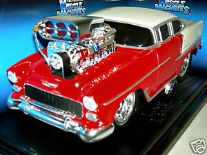 1955  CHEVY CALF. TO COOL MUSCLE MACHINE IN RED/WHITE.