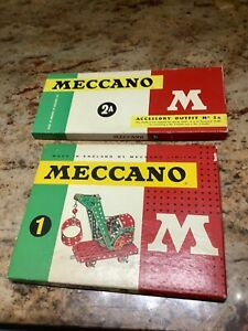 Meccano Sets No 1 & No 2A,Great condition, nearly both complete.