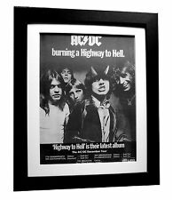AC/DC+HIGHWAY TO HELL+TOUR POSTER+AD+RARE ORIGINAL 1979+FRAMED+FAST GLOBAL SHIP