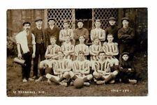 Vintage 1911 St. Barnabas F.C. Football Soccer Club RPPC Real Photo Postcard
