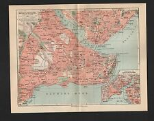 Landkarte city map 1927: KONSTANTINOPEL. Lageplan von Konstantinopel.