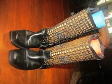 HARLEY DAVIDSON HEAVY STUDDED BOOTS,W-10  MEN 9 WEAR TO HEELS AND TOES