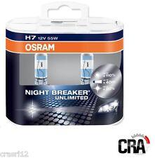 COPPIA LAMPADE H7 12V 55W OSRAM NIGHT BREAKER UNLIMITED