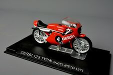 R&l Diecast: sin caja DERBI 125 Twin Racer Angel Nieto 1971 Bici De La Motocicleta