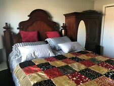 Bed and Armoire antique reproduction with mattress