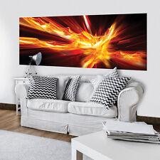 Tessuto non tessuto Poster parete Carta da parati Fotomurale astrazione arancione fuoco arte 3fx3538vep
