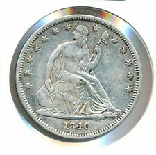 1840 Seated Half Dollar CLOSELY UNCIRCULATED Philadelphia 50c Liberty Silver