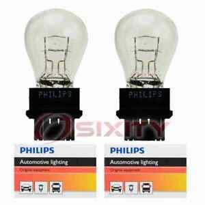 2 pc Philips Brake Light Bulbs for GMC C1500 Envoy Envoy XL K1500 S Savana sy