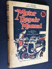 The MOTOR REPAIR MANUAL Vintage TEMPLE PRESS BOOK CAR MAINTENANCE Mechanic Skill