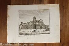 ✒ GRAVURE 18e ROME Basilique Saint Paul hors les murs
