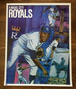 Original, Vintage Kansas City Royals Baseball Poster 1968/71~Never Framed