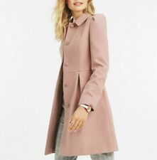 Oasis Pink Angelique Feminine Dolly Swing Dress Coat Tailored Jacket XS To XL