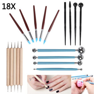 18pc Polymer Clay Tools Modelling Sculpting Tool Pottery Models Art Projects Set