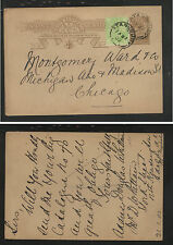 South  Australia    uprated postal card to  US   1902        AT0515