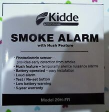 KIDDE 29H-FR SMOKE ALARM BATTERY OPERATED WITH HUSH FEATURE