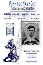 WIDNES Rugby League - Pinnace 1920's repro advertising cards