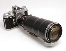 Tair 4,5/300 mm Schnellschußobjektiv mit Edixa Kamera und Isco 50 mm Objektiv