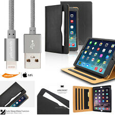 Heavy Duty Folio Leather Case Smart Cover Card Holder Drop-Proof Fr iPad Air 1 2